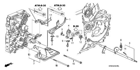 Honda online store : 2004 element at shift fork parts