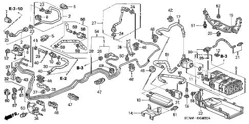Honda online store : 2004 element fuel pipe parts