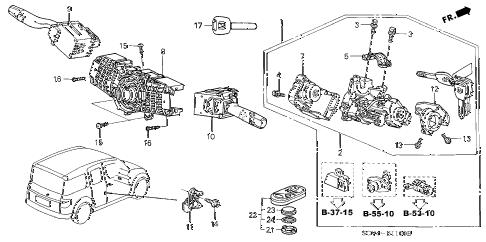 Honda online store : 2003 element combination switch parts