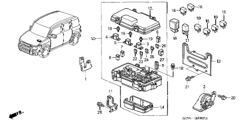 Honda online store : 2004 element control unit (engine