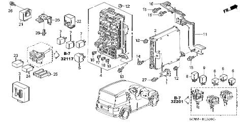 Honda online store : 2003 element control unit (cabin) parts