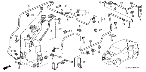 Honda Element Engine Diagram Hoses • Wiring Diagram For Free
