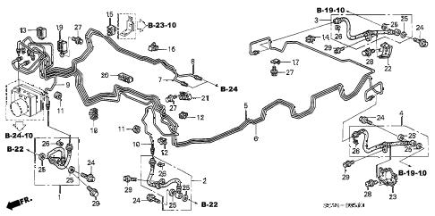 Honda online store : 2003 element brake lines (abs) parts
