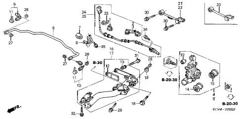 Honda online store : 2003 element rear lower arm parts
