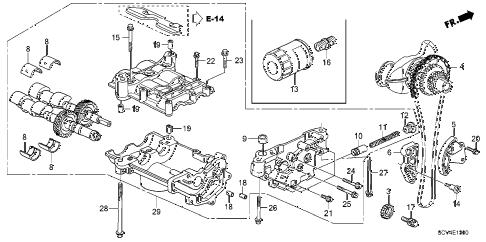 Honda online store : 2004 element oil pump parts