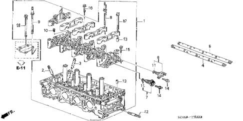 Honda online store : 2003 element cylinder head parts