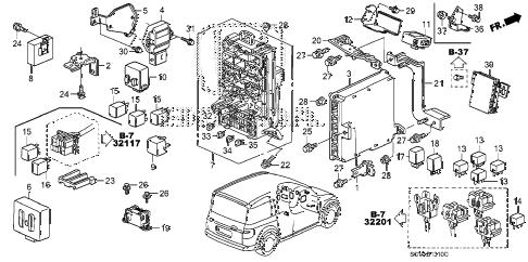Honda online store : 2007 element control unit (cabin) parts