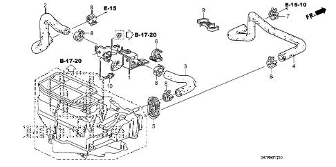Honda online store : 2008 element water valve parts