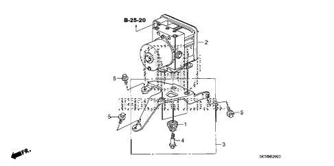 Honda online store : 2007 element vsa modulator parts