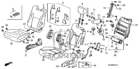 Honda online store : 2008 element front seat (l.) parts
