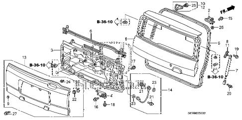 Honda online store : 2007 element tailgate (1) parts