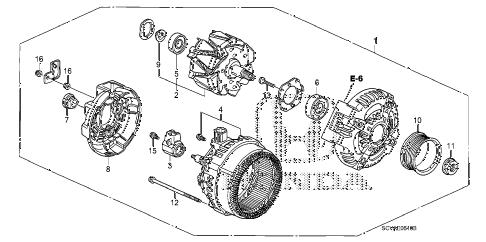 Honda online store : 2010 element alternator (denso) parts