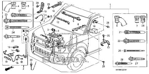 Honda online store : 2010 element engine wire harness parts