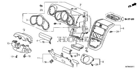Honda online store : 2011 element instrument panel garnish