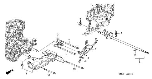 Honda online store : 2004 accord at shift fork (v6) parts