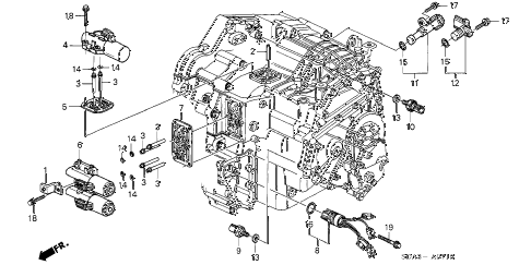 Honda online store : 2004 accord at solenoid (l4) parts