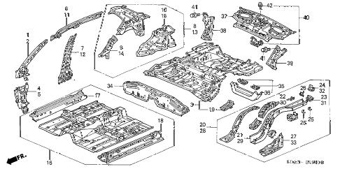 Honda online store : 2005 accord inner panel parts