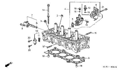 Honda online store : 2004 accord vtc oil control valve (l4