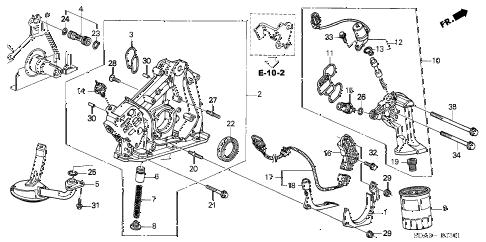 Honda online store : 2003 accord oil pump (v6) parts