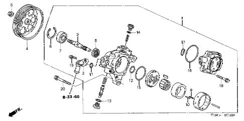 Honda online store : 2005 accord p.s. pump (l4) (-'05) parts