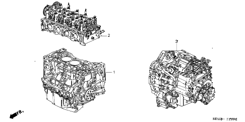 Honda online store : 2003 accord engine assy