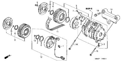 Honda online store : 2003 accord a/c compressor parts