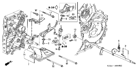 Honda online store : 2004 accord at shift fork (l4) parts