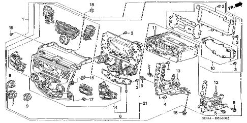 Honda online store : 2006 accord center module (alpine