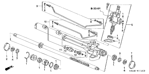 Honda online store : 2006 accord p.s. gear box components