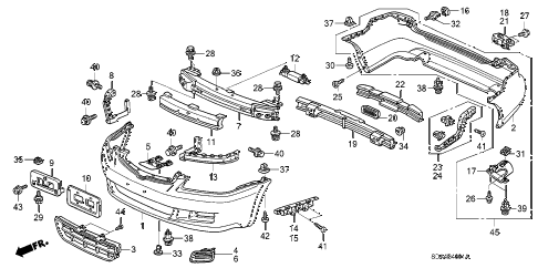 Honda online store : 2006 accord bumpers ('06) parts