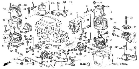 Honda online store : 2006 accord engine mounts (v6) (mt) parts