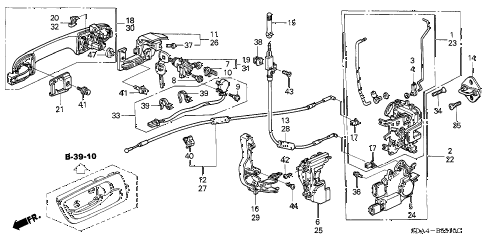Honda online store : 2005 accord front door locks parts