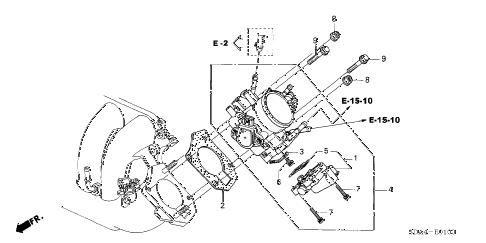 Honda online store : 2003 accord throttle body (l4) (-'05