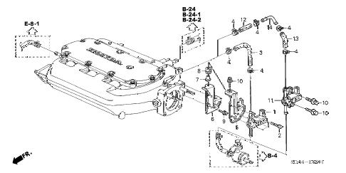 Honda online store : 2003 accord tubing (v6) parts