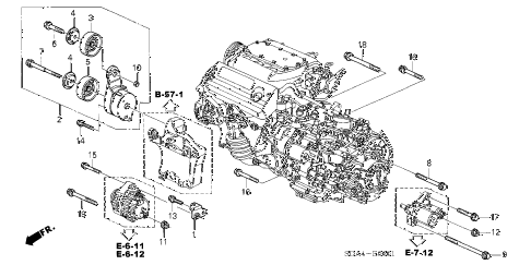 Honda online store : 2003 accord alternator bracket (v6) parts