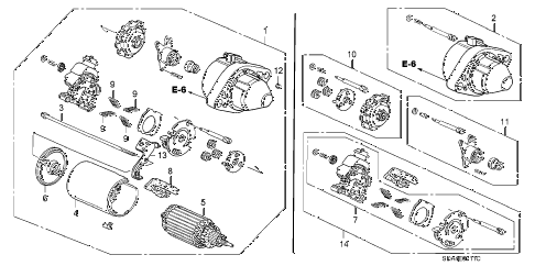 Honda online store : 2004 accord starter motor (mitsuba