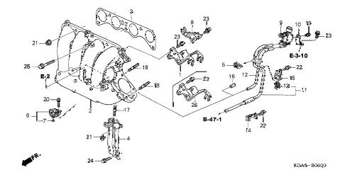 Honda online store : 2004 accord intake manifold (l4