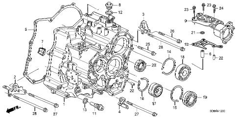 Honda online store : 2007 accord at transmission case (v6