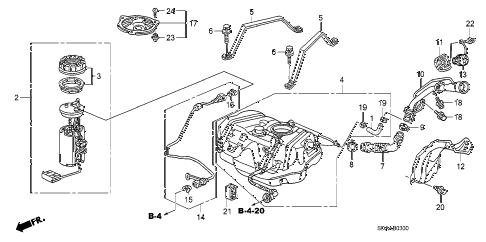 Honda online store : 2007 accord fuel tank (1) parts