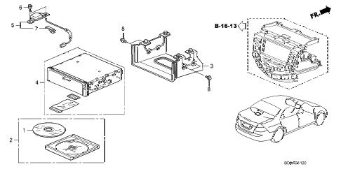 Honda online store : 2007 accord navigation system parts