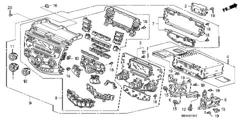 Honda online store : 2007 accord center module (stanley