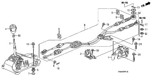 Honda online store : 2007 accord shift lever (v6) parts