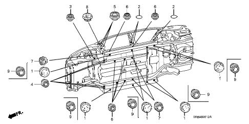 Honda online store : 2007 accord grommet (lower) parts