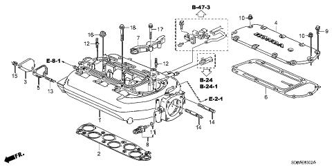 Honda online store : 2007 accord intake manifold (v6) (at