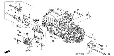 Honda online store : 2007 accord alternator bracket (v6) parts