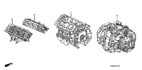 Honda online store : 2007 accord engine assy