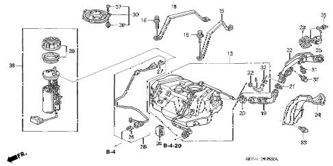 Honda online store : 2003 accord fuel tank (1) parts
