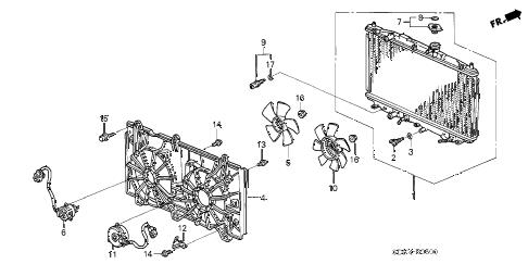 Honda online store : 2003 accord radiator (l4) (denso) parts