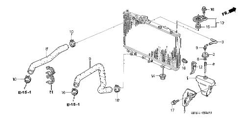 Honda online store : 2003 accord radiator hose (v6) parts