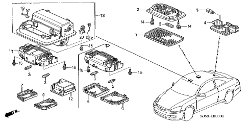 Honda Accord Interior Parts Diagram